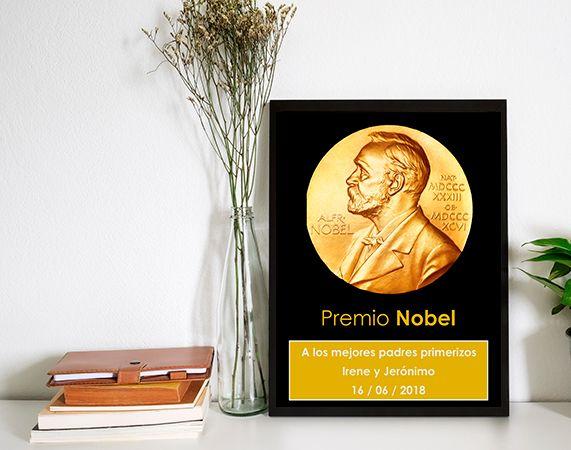 Premio Nobel personalizado con su nombre(diploma)
