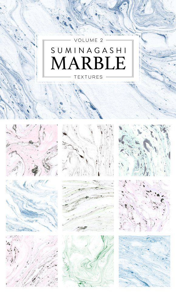 Marble Paper Textures 2 by Pixelwise Co. on @creativemarket