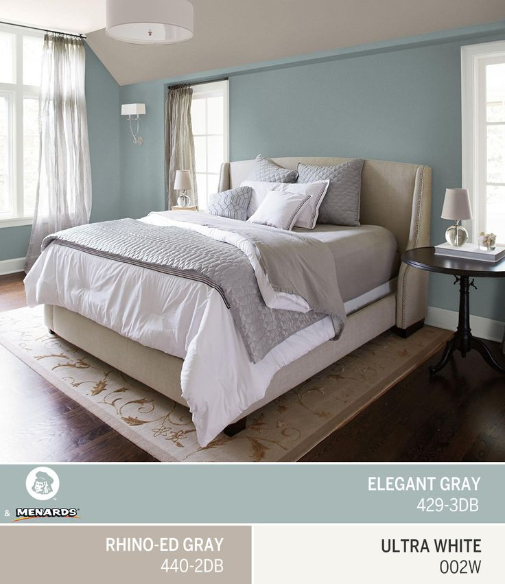 A bedroom painted a soothing neutral like Dutch Boy's May Color of the Month, Elegant Gray 429-3DB, brings a sense of calm to your nighttime routine — meaning you'll wake up refreshed.