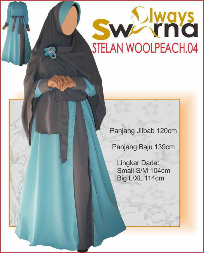 Baju Gamis Wanita Syar'i – Model Busana Muslim- Always Swarna stelan woolpeach.04 – abu toska