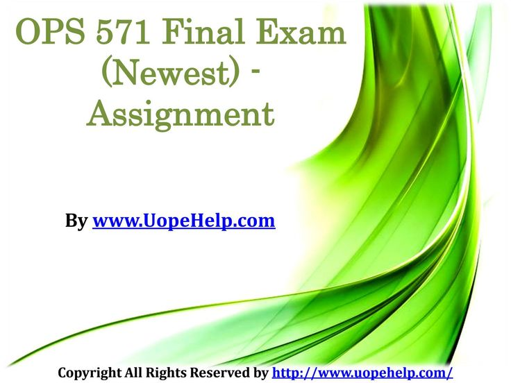 Leans the best business practices via OPS 571 Final Exam Question With Answers and be a business tycoon.
