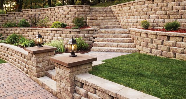 Retaining Wall to Transform Slope in Backyard