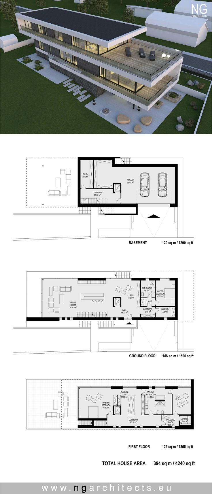 modern house plan Villa G by NG