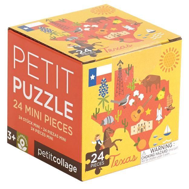 petit collage texas map petit puzzle 24 pcs box