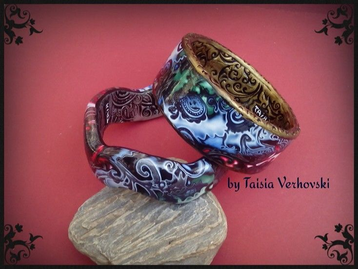 Bracelets with polymer clay