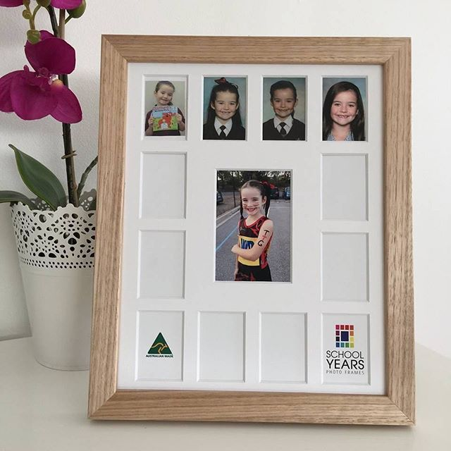 One kid, so many school photos! The ever popular @school_years_photo_frames is now available in stylish Scandi inspired oak. Link in bio to