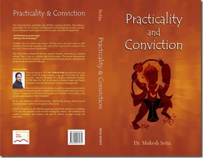 """The Book """"Practicality and Conviction""""  Authored by Dr. #Mukesh Setia  cost: INR 125/-"""