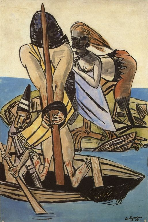 Max Beckmann - Odysseus and the Sirens. Tags: ulysses, odysseus, odyssey, sirens,