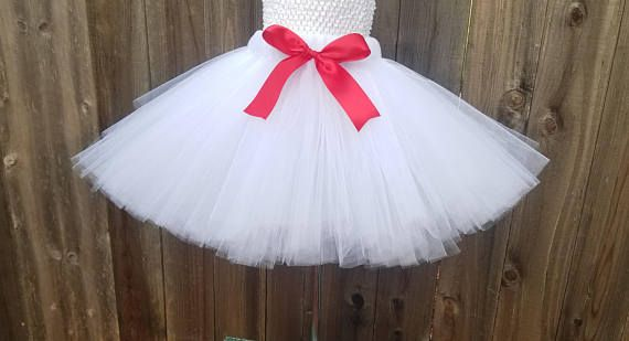 Customizable White Tutu Skirt White Holiday Tutu White Adult