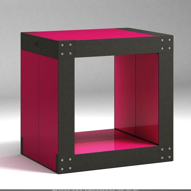 Tabouret meuble modulable structure noire rouge framboise - Voici un meuble multifonction que vous pouvez utiliser tour à tour en table de chevet, en table d'appoint dans votre salon ou encore en tabouret dans votre espace d'attente. Ce meuble aux lignes design trouvera forcément sa place dans votre intérieur !