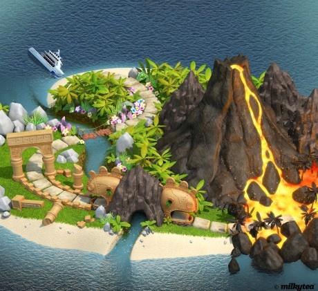 Molten Mayhem - Roller Rally's extra island. #rollerrally #ios #android #game #milkyteastudio #milkyteaplay