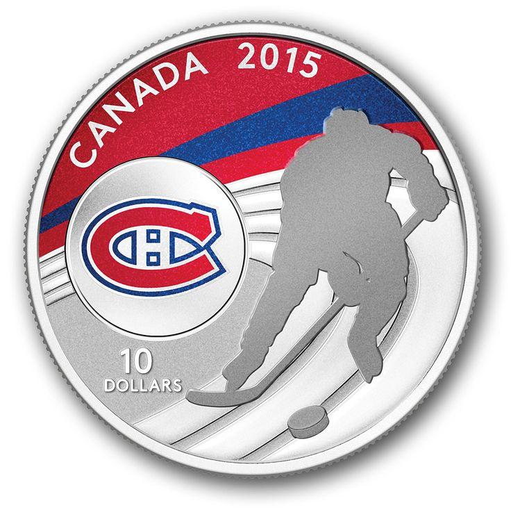 Postes Canada - Pièce de 10 $ en argent pur 2015 - Canadiens de Montréal - Sports