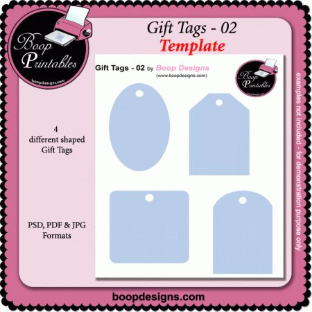 Gift Tags 02 Template By Boop Designs Printable Paper
