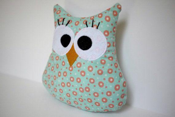 Plush Owl Toy  Cute Plush Owls  Stuffed Owl Pillow by BirdieAndDot, $12.00