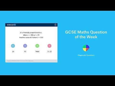 Inverse Proportion: GCSE Maths Question of the Week - Mr Barton Maths Blog