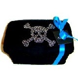 Black Skull Bling Nursery Wipes Case. This is awesome!!