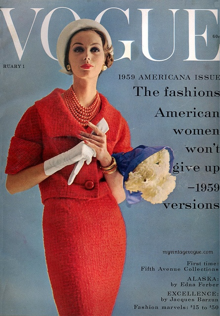 Vogue cover, January 1959.