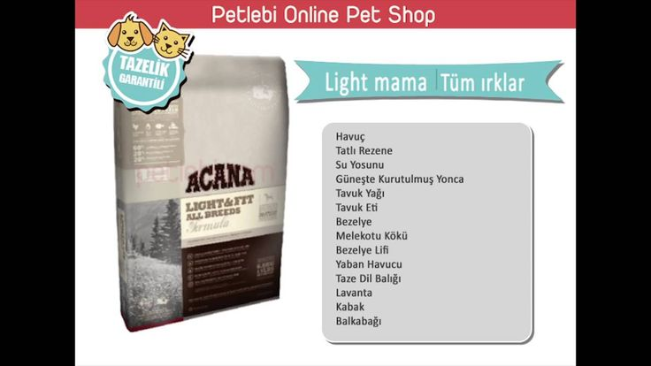 acana light and fit köpek maması