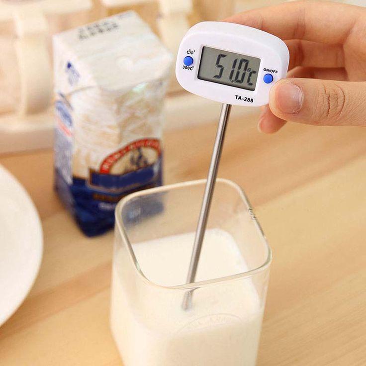 Мгновенное цифровой термометр ЖК дисплей продовольственной барбекю мясо шоколад печь приготовления термометром купить на AliExpress