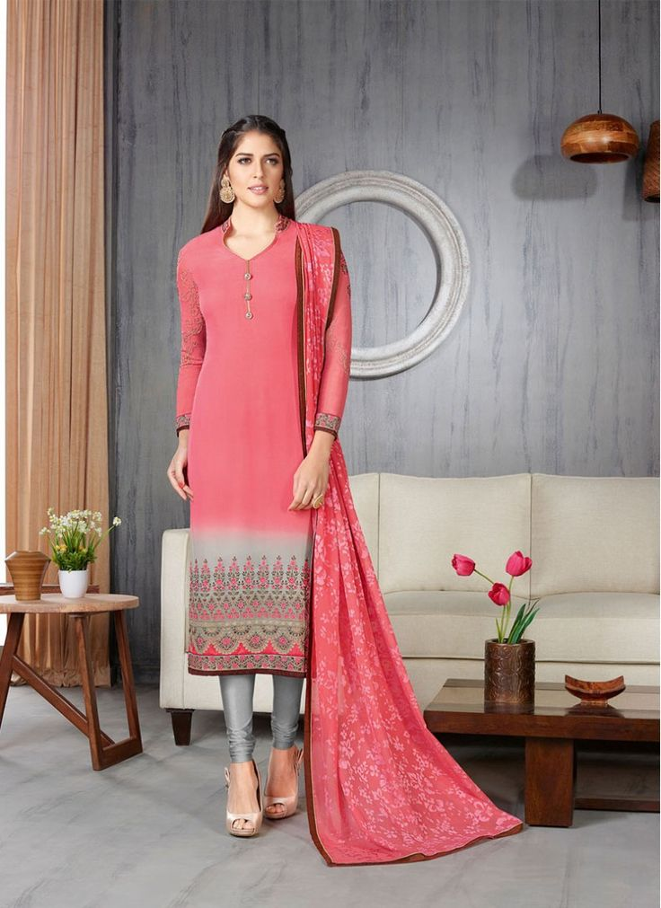 Sentoon Pink Colored Indian Churidar Suit