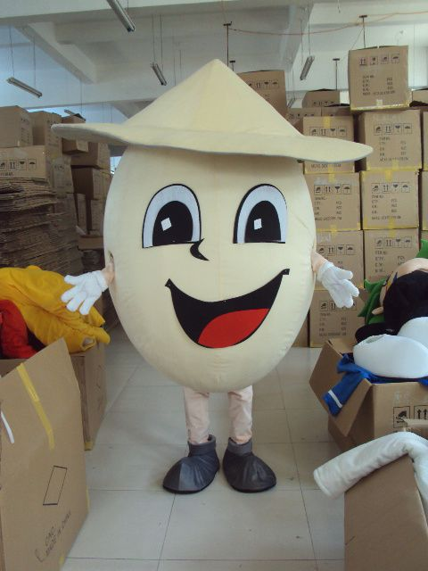 Custom Egg Mascot Costumes Christmas Birthday Party Womens Mens Mascots Suit Fancy Dress Carnival Outfit Adult Size