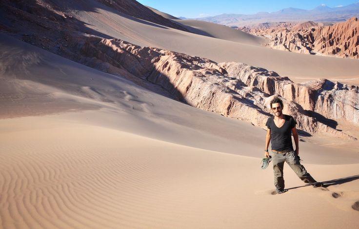 Seb dans le désert de San pedro de atacama