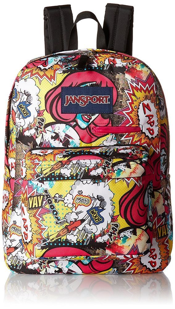 edb6f4417f2 JanSport Digibreak Laptop Pop Art Comic School Backpack w  Laptop   Phone  Sleeve  backtoschool  kids  backpack  backpacks  school  college  boys   girls ...
