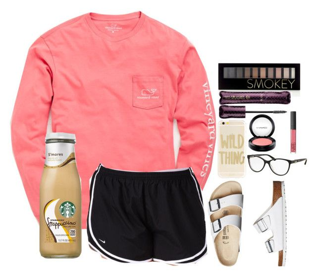 Comfy and Preppy ♡ by jenaveyminjarez on Polyvore featuring polyvore moda style Vineyard Vines NIKE Birkenstock Bulgari Sonix NARS Cosmetics MAC Cosmetics tarte Forever 21 fashion clothing