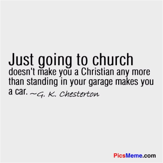 Let's be the church by loving those around us and focus less on simply wearing the title of Christian.