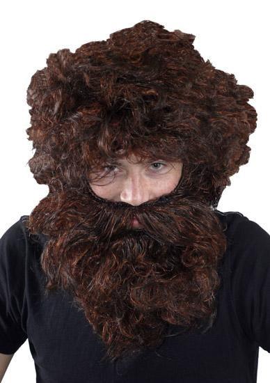 Caveman Wig And Beard Set | Wigs, Beard, Frizzy