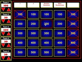 If you have used Jeopardy Powerpoint Templates in the past, you will be amazed at how much easier this Flash version is to create and use in the cl...