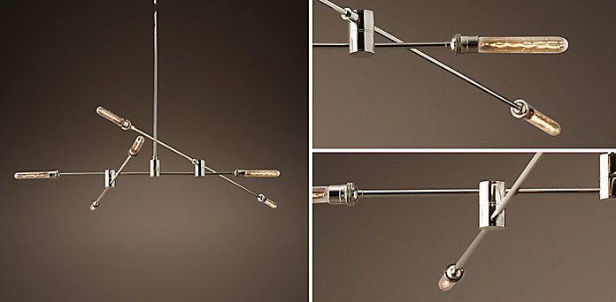 Kinetic Chandelier Polished Nickel Restoration