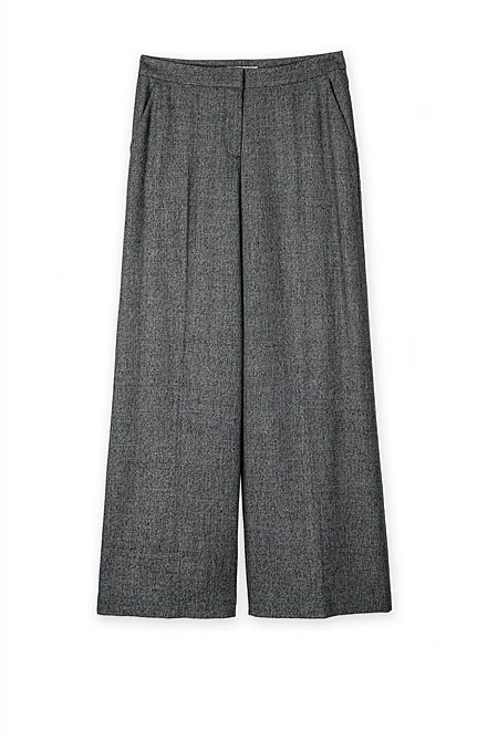 Textured Wide Leg Pant