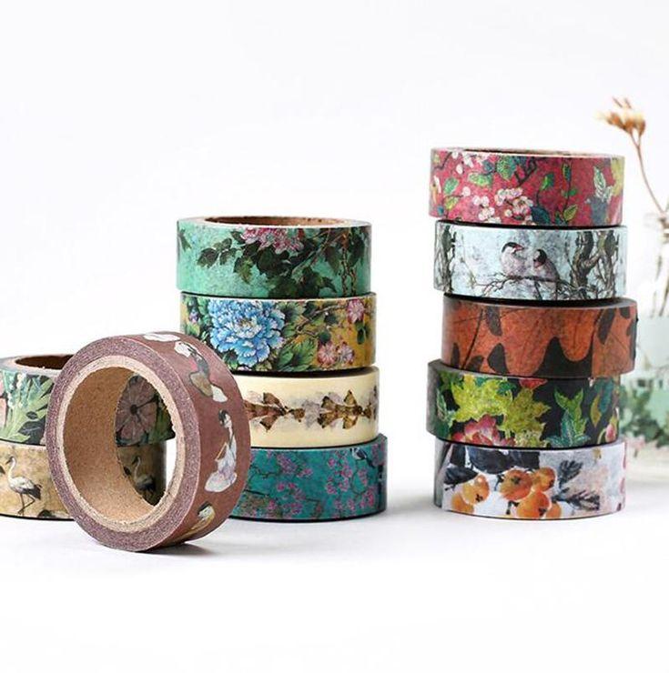 15mm*7m Traditional Ancient China Pattern Washi Tape Scotch DIY Scrapbooking Sticker Label Masking Craft Tape