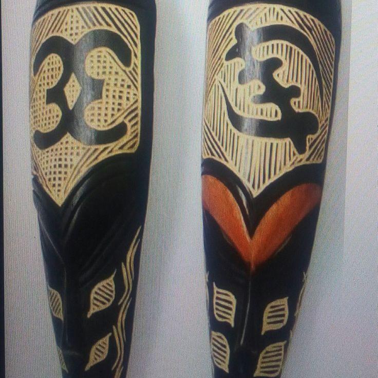 Ashanti Male and Female Masks