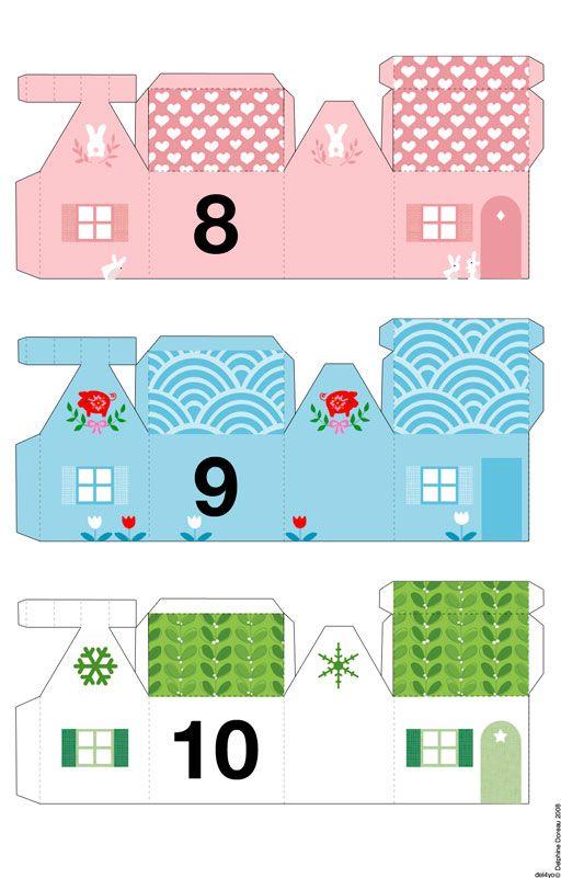 Le lapin dans la lune - Non dairy Diary Cute littles houses for advent calendar
