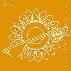 Saraswati Rangoli Step 3