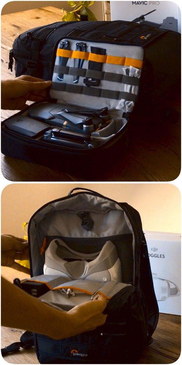 Die perfekte Tasche für beides: DJI Mavic Pro und DJI Goggles Hier: http://amzn.to/2vzBXfv