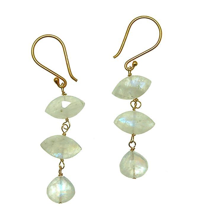 Moonstone Earrings (E1967R) $80