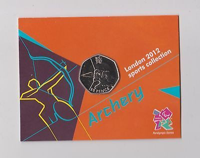 #archery - rare 50p olympic 2012 london #fifty #pence uncirculated coin in folde,  View more on the LINK: 	http://www.zeppy.io/product/gb/2/322393129629/