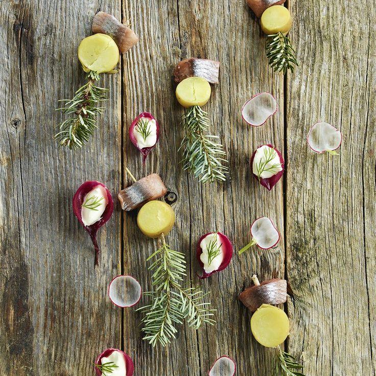 Marinated Potatoes and Herring