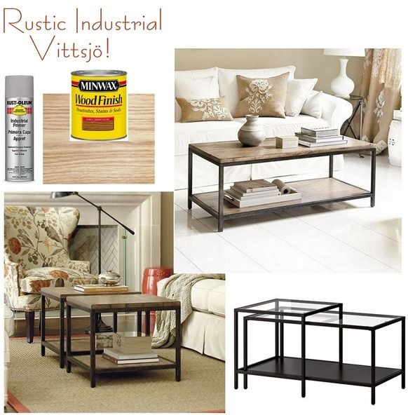 e nesting tables can transform with some gray primer and stained wood planks.  For a look less painted and more like metal, check out Freckled Laundry's faux zinc tutorial.