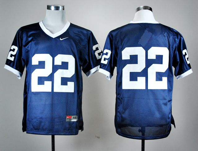 Men's NCAA Penn State Nittany Lions #22 Navy Blue Jersey