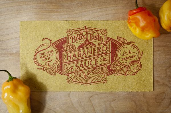 Bob's Tasty Habanero Sauce and Jelly by Nick Misani, via Behance