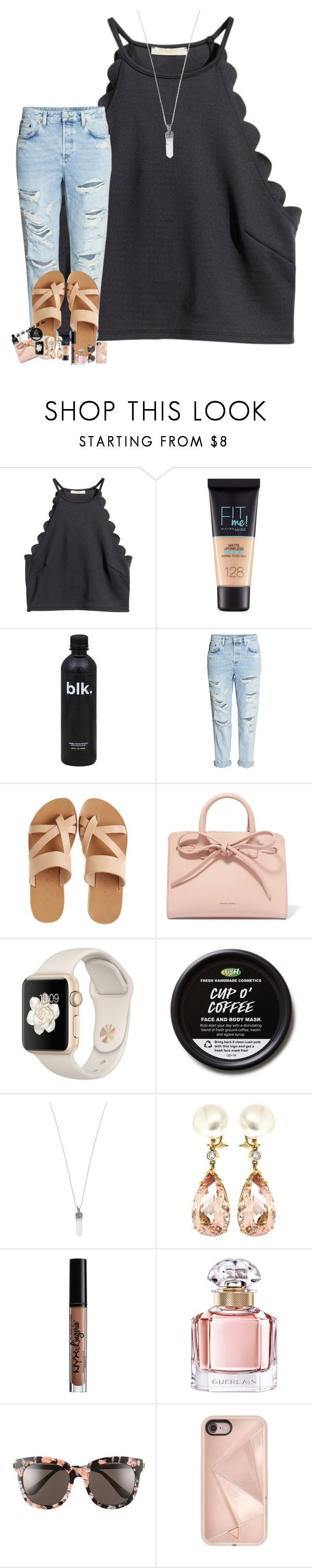 """""""wise men say, """"only fools rush in"""", but i can't help falling in love with you."""" by thatonelakyn ❤ liked on Polyvore featuring H&M, Maybelline, KYMA, Mansur Gavriel, Marc Jacobs, Valentin Magro, NYX, Guerlain, Gentle Monster and Rebecca Minkoff"""