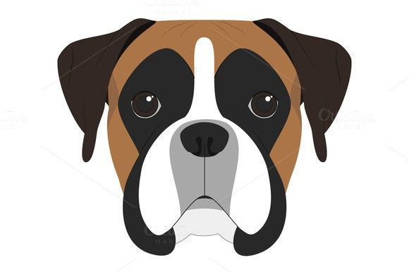 Boxer dog Vector Illustration. $2.00 - Tap the pin for the most adorable pawtastic fur baby apparel! You'll love the dog clothes and cat clothes! <3