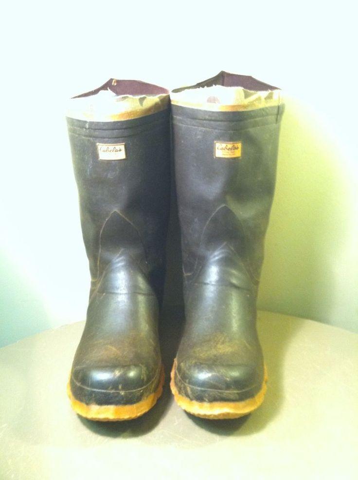 CABELA'S RUBBER/MUD/MUCK FISHING BOOTS MEN'S SIZE 10 #Cabelas #Boots