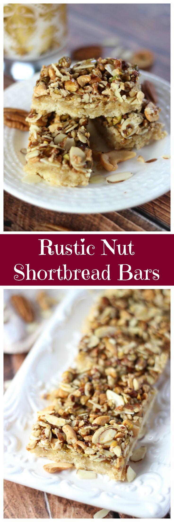 honey nut shortbread bars pin