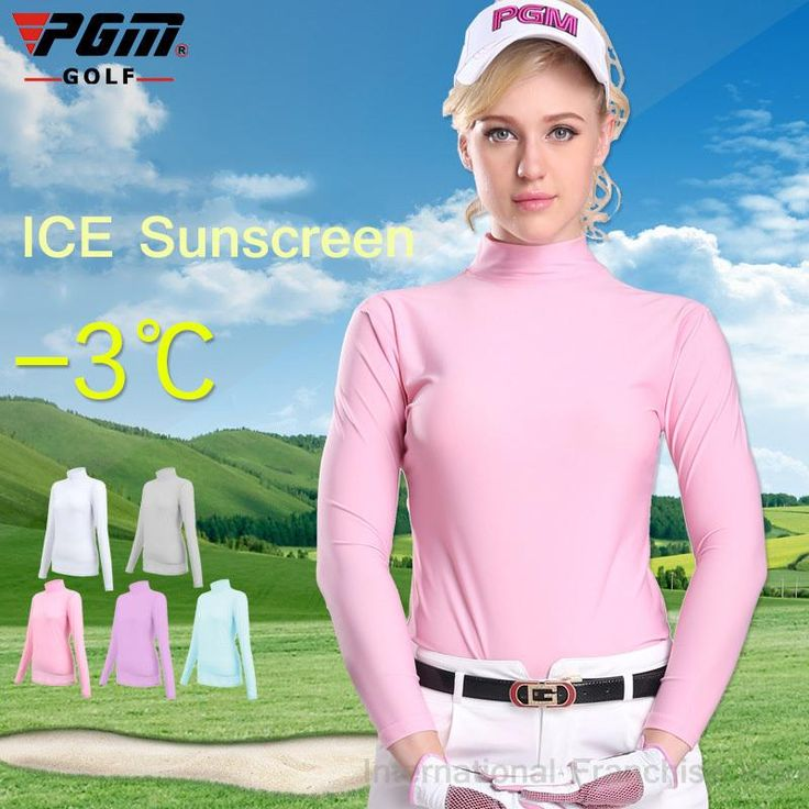 [Visit to Buy] PGM Lady Sungreen Golf TShirt Compression Women Long Sleeve Polo Shirt Quick Dry Golf Ropa De Golf Mujeres Summer Shirt Clothes #Advertisement