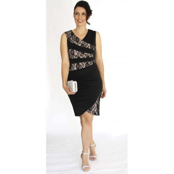 Zetine Floral Asymmetric Slimming Dress